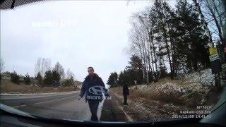 Приколы на дороге! Авто приколы! Смешные ДТП! Драки на дороге! Бабы за рулем!
