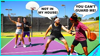 2v2 vs Trash Talkers! *BOYS vs GIRLS* Ft. Bree Green + Stephania