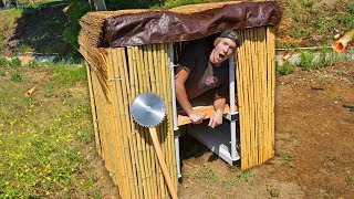 24 Hours in DIY Apocalypse Survival Shelters!! *OVERNIGHT SURVIVAL*