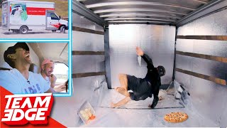Survive the Back of a Moving Truck Challenge!!