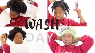 UPDATED WASH DAY ROUTINE ON MY SHORT 4C NATURAL HAIR  THE SHRINKAGE IS REAL!   TSHEGO MAKOE