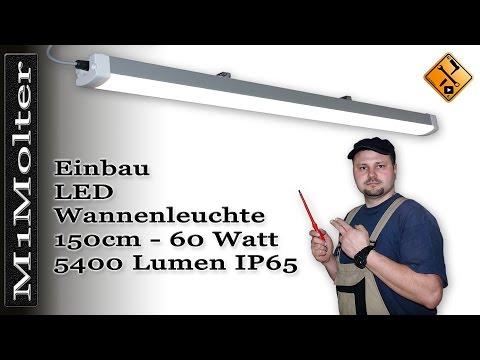 LED Leuchte für Garage & Carport /150cm  - Montage und Installation von M1Molter