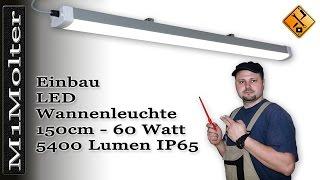 LED Leuchte für Garage & Carport /150cm  - Montage und Installation
