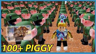 ME VS 100 PIGGY BOTS!! - Roblox Piggy Update