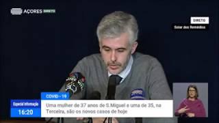 28/03: Ponto de Situação do Autoridade de Saúde Regional sobre Coronavírus nos Açores