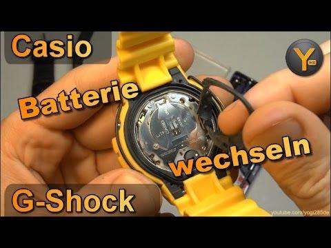 Casio G-Shock: Batterie-Wechsel von A bis Z