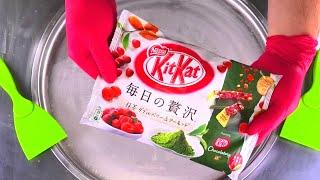 KitKat Matcha Ice Cream Rolls   how to make fried Chocolate & Berry Ice Cream   Satisfying ASMR Food