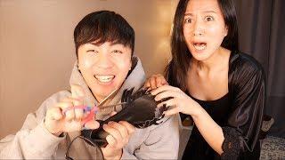 韩国淘气弟弟剪碎姐姐心爱的鞋子, 气得姐姐拿出了......Destroyed Shoes Prank