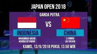 Jadwal Live Ganda Putra, Ahsan/Hendra Vs Junhui/Liu Yuchen di Japan Open 2018 Pukul 13.50 WIB
