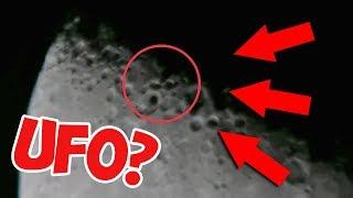 НЛО 2018 - свежее видео! Реальная съемка: три НЛО на Луне HD (UFO)