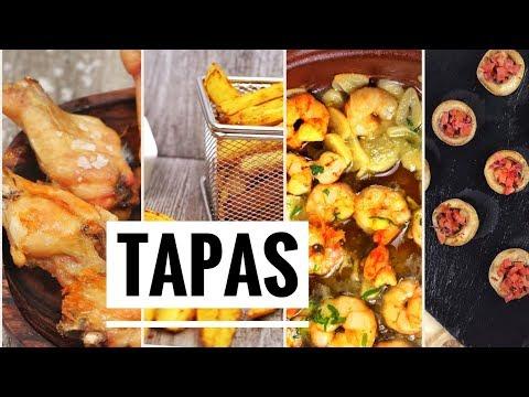 4 Tapas Españolas. Las mejores recetas