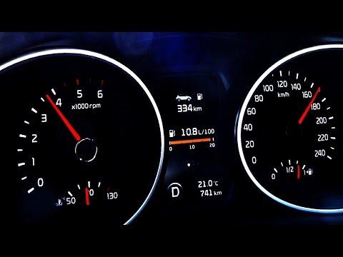 Den Aufwand des Benzins von km auf den l im l auf km zu übersetzen