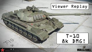 EPIC viewer replay! - T-10 - World of Tanks Console ( Xbox / PS4 )