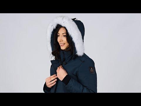 Aurora Parka Navy || Womens Winter Coat || Arctic Bay || Made in Canada 2018