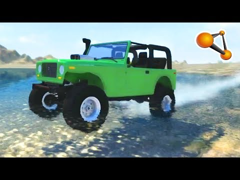 BeamNG.Drive - Top speed Water sliding Crashes #2