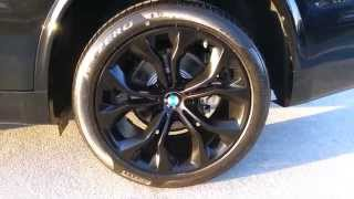 "NEW BMW X5 35I SDRIVE BLACK 20"" WHEELS Walk Around  Car Review"
