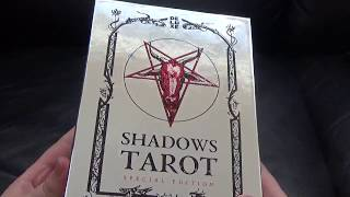 THE TAROT OF SHADOWS.. Unboxing and full flip through