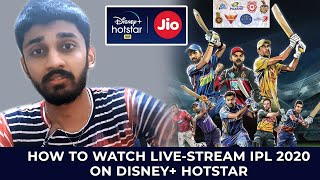 HOW TO WATCH LIVE-STREAM IPL 2020 ON DISNEY+ HOTSTAR | ENGLISH | TECHBYTES