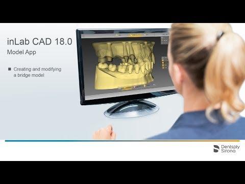 inLab CAD 18.0 Creating a bridge model