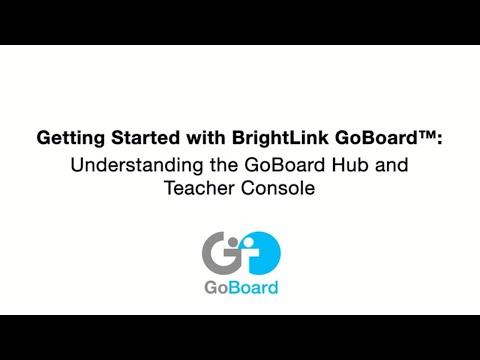 #1 Configuring the GoBoard Hub & Teacher Console