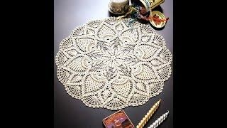 How to crochet doily free pattern