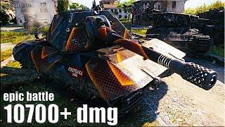 КРАСАВЧИК танк Е100 🌟 10700+ dmg 🌟 World of Tanks лучший бой E100