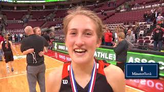 Minster wins the Division IV Girls State Basketball Championship over Ottoville