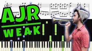 AJR   Weak   Piano Tutorial + SHEETS