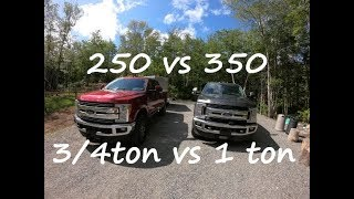 250 VS 350 3/4 TON VS 1 TON WHAT TO BUY?