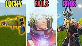 NEW SEASON 5 FUNNY MOMENTS! LUCKY vs FAIL vs PROS! - Fortnite Battle Royale Funny Moments