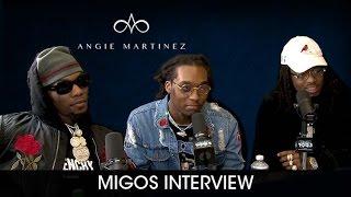 Migos Celebrates Their First #1 Album 'Culture' w/ Angie Martinez