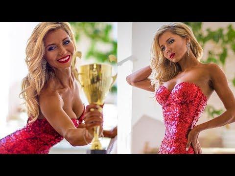 фит модель 2018 -  Красота фитнеса в вечерних платьях  Ю Миронова и М Евгенева