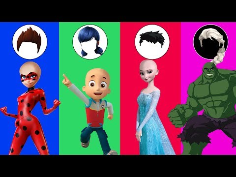 Wrong Hairs Cartoon Ladybug Paw Patrol Elsa Hulk Spiderman Nursery Rhymes Song