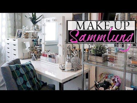 XXL MAKE UP SAMMLUNG & AUFBEWAHRUNG 2017 😍 Mein Schminktisch