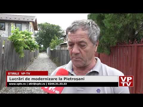 Lucrări de modernizare la Pietroșani