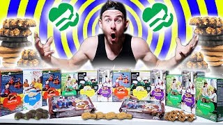 THE ULTIMATE GIRL SCOUT COOKIE CHALLENGE! (14,000+ CALORIES)
