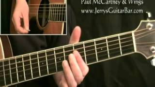 How To Play Paul McCartney Bluebird Verse Only