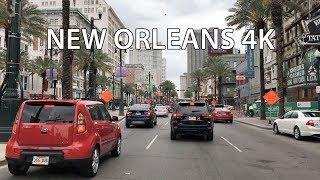 New Orleans 4K - Bourbon Street - Morning Drive