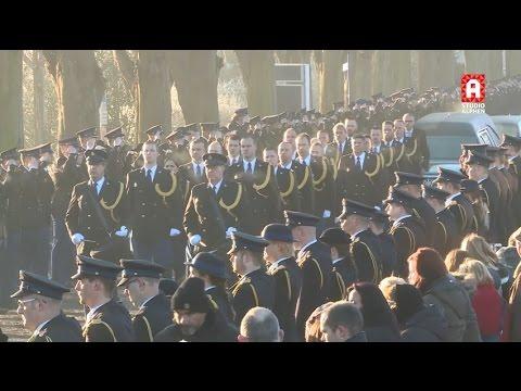 Uitvaart van politieagent Mario Prosperi in Boskoop