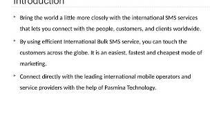 International Bulk SMS Service Provider