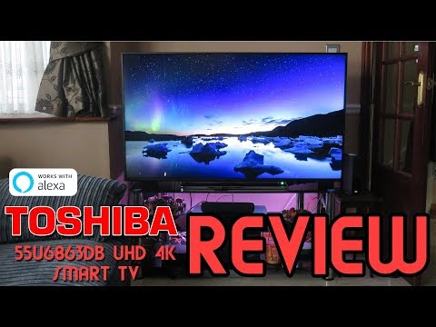 "TOSHIBA U556863DB UHD 55"" 4K Smart TV Alexa Compatible 