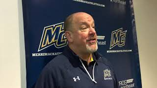 Merrimack's Head Coach Scott Borek Postgame Comments vs Minnesota Duluth