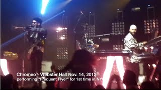 "Chromeo debuts ""Frequent Flyer"" Live at Webster Hall, NYC"