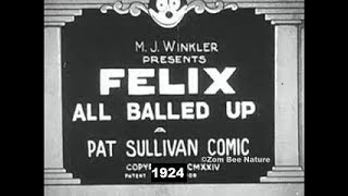 Felix The Cat All Balled Up - 1924 - Video Youtube