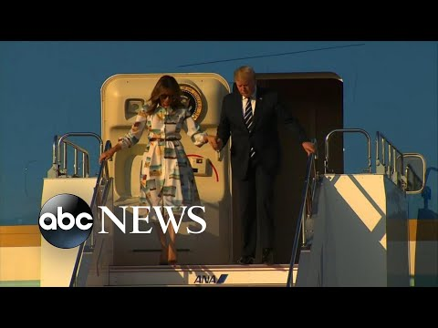 Trump arrives in Japan to meet with PM Abe and Japan's new emperor  l ABC NEWS