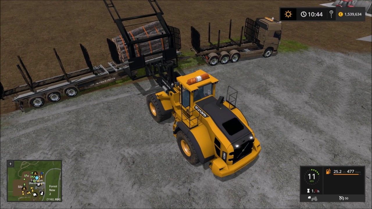 Lantmanen FS Volvo 220H Log Grab mod Farming Simulator 17