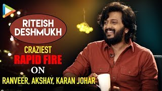 """Ajay Devgn is PRANK MASTER"": Riteish Deshmukh | Total Dhamaal | Rapid Fire"
