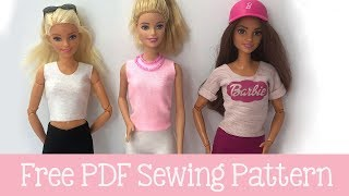How To Make Barbie Doll Shirt Free PDF Pattern - 12 Styles