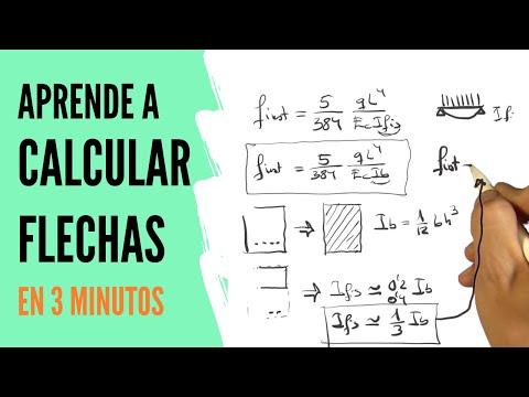 Aprende a CALCULAR FLECHAS en hormigón en 3 minutos