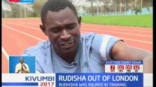 World 800M Champion David Rudisha exits the World Championships in London after getting an injury